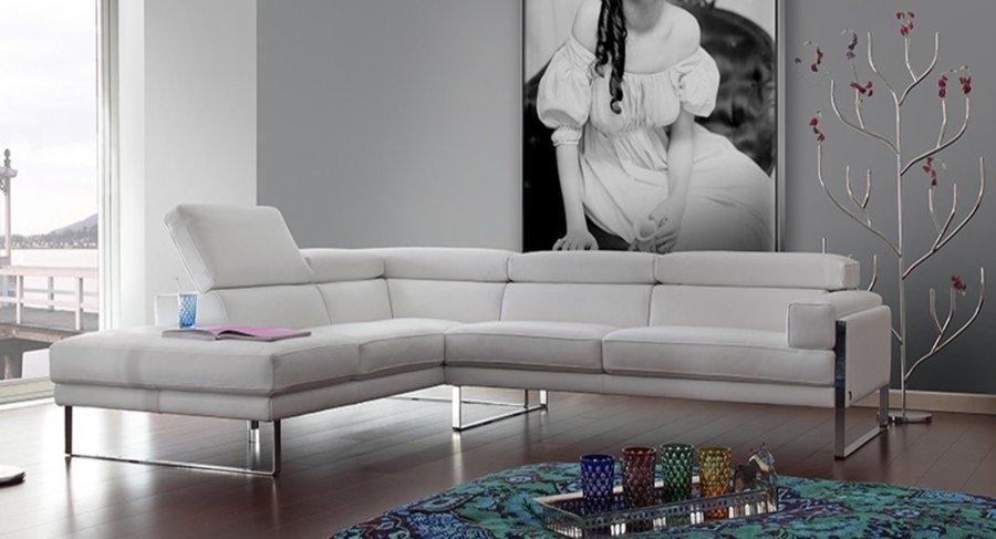 sofá romeo calia italia blanco