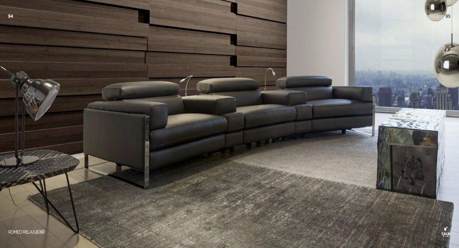 sofá romeo calia italia negro