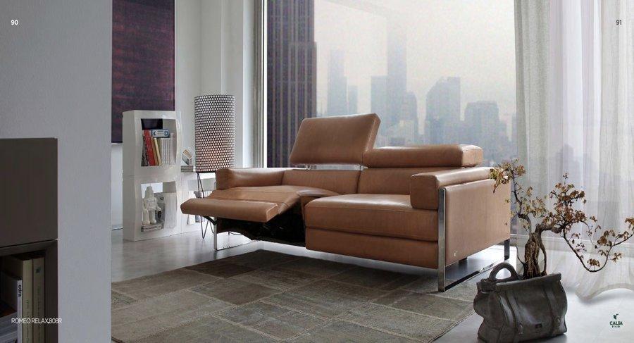 sofá romeo calia italia marron