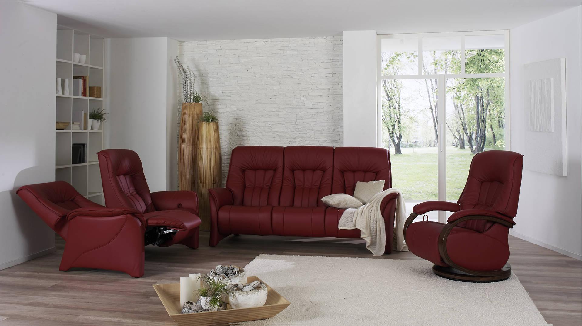sofás color rojo para salón