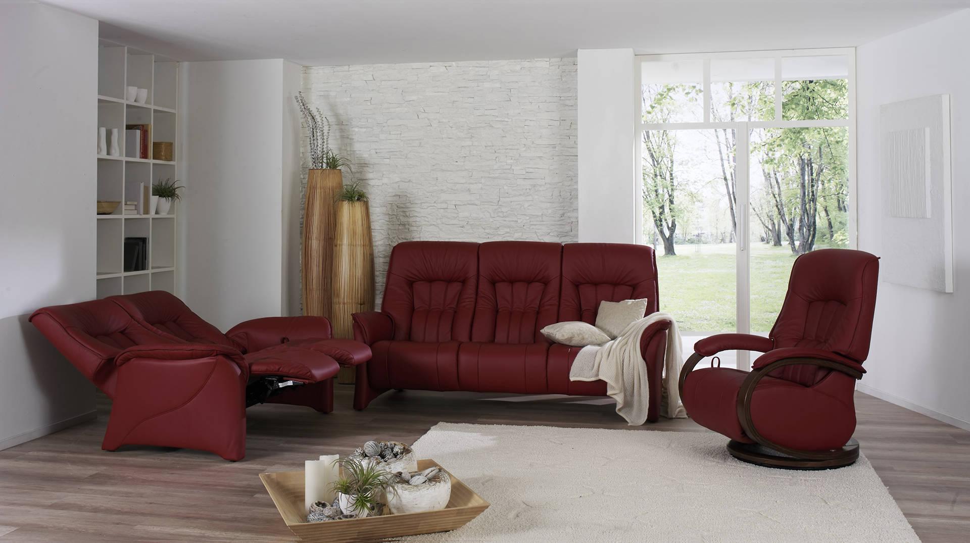 sofás color rojo para interior