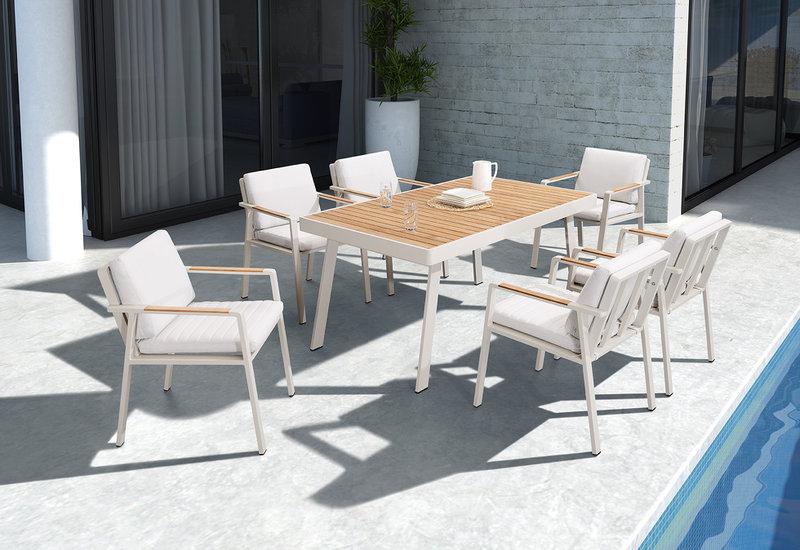mesa nofi con sillones de exterior