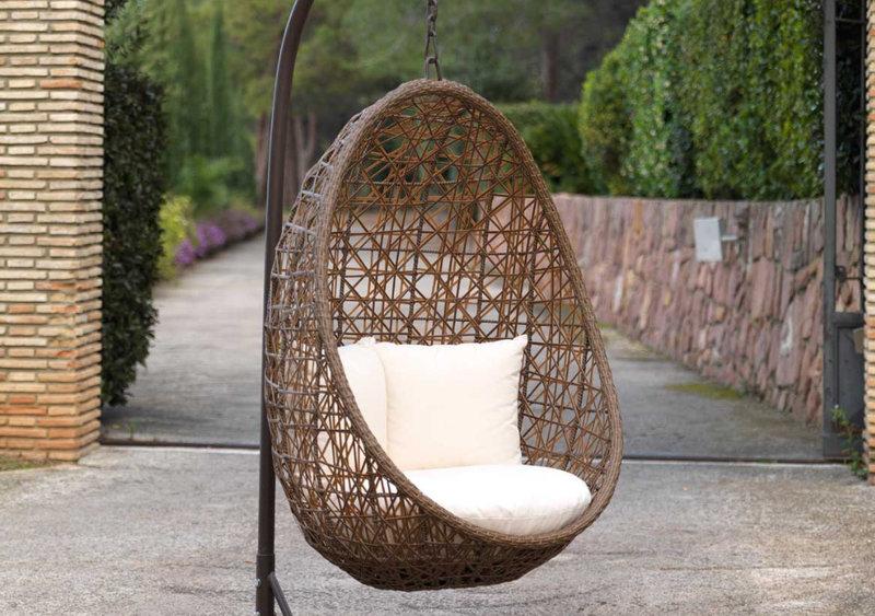 sillón colgante de jardín