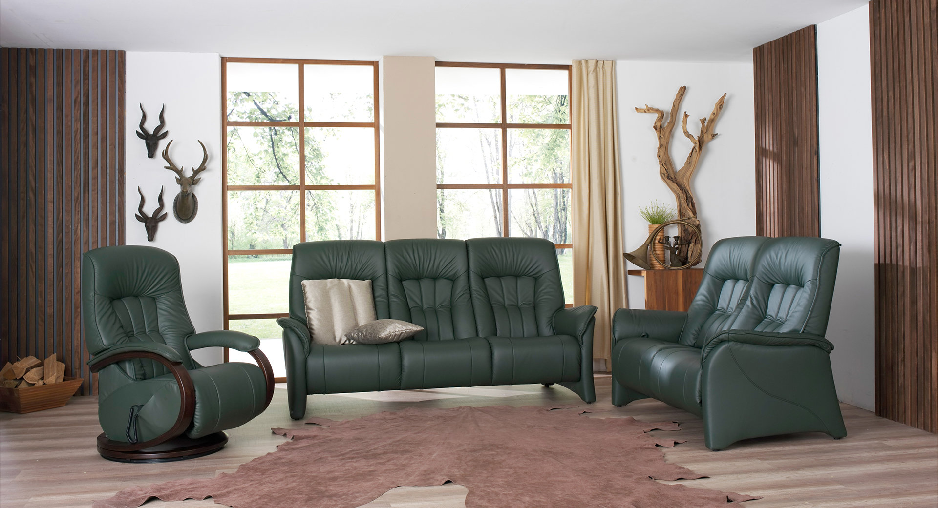 sofas de color verde