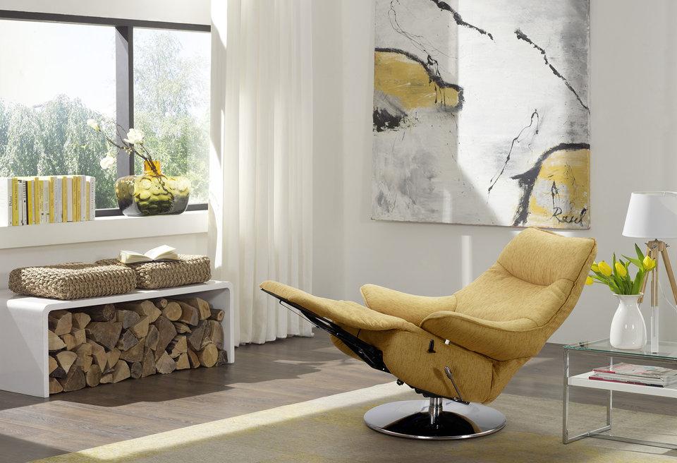 himolla orange sofa