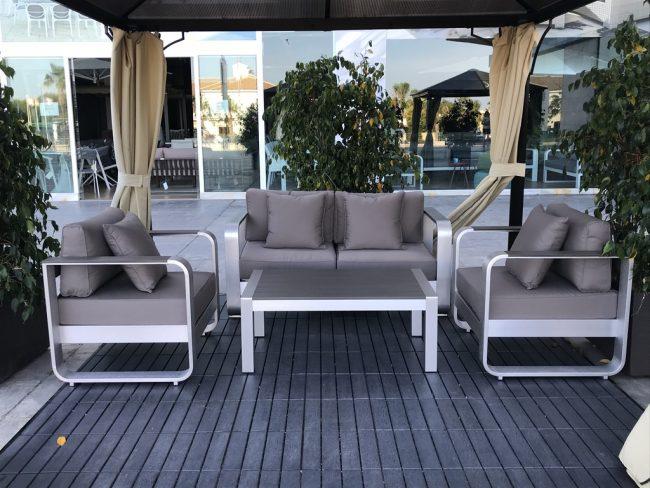 Set muebles de aluminio Tarn 2 plazas