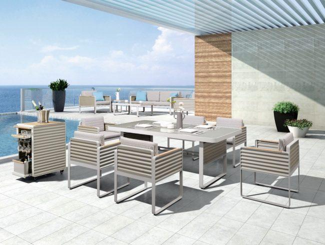 Set de muebles de aluminio Airport