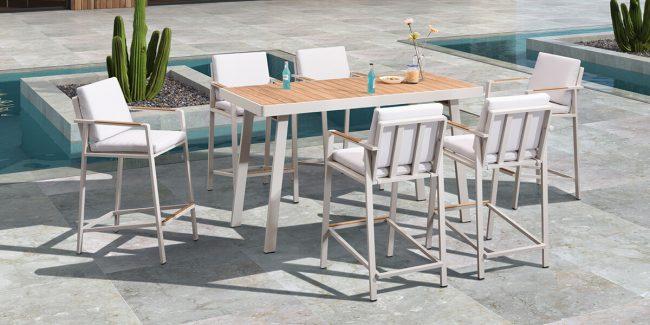 Set de mesa y 6 taburetes NOFI