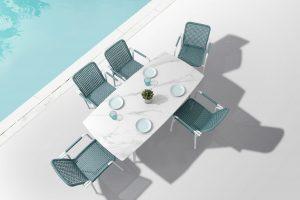 Muebles de jardín de aluminio, dining set